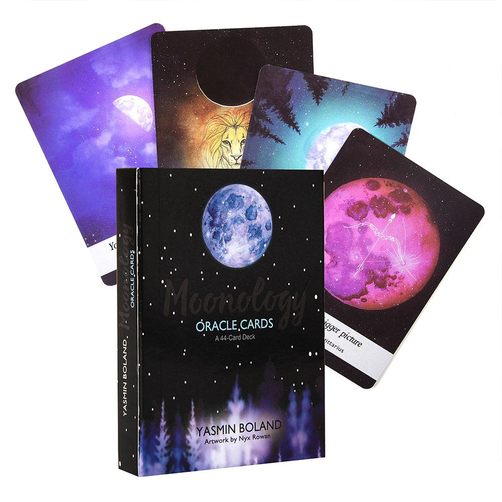 44 Pcs/ Set Guidebook Set For Moonology Oracle Cards English Funny Board Game Tarot Deck Card Games For Families Party Drop Ship
