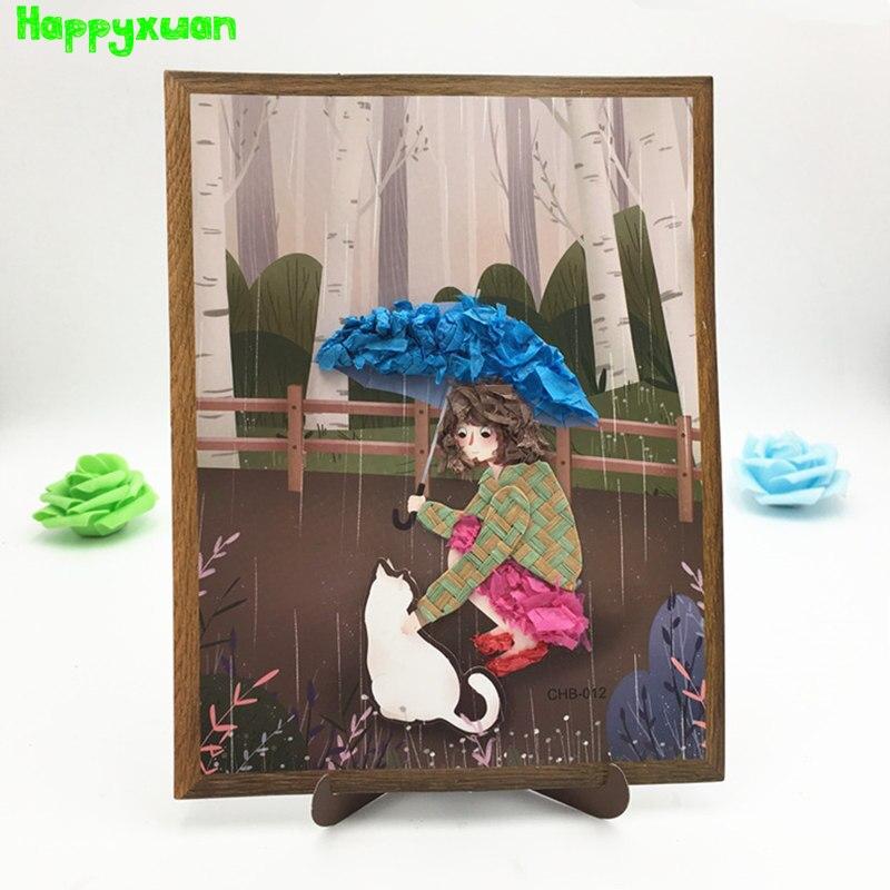 Happyxuan DIY Arts And Crafts Kits For Childen Paper Combination Stickers Set For Creativity Girls Handicrafts Toy Kindergarten