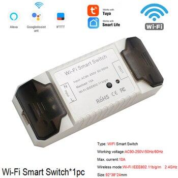 Smart Life APP WiFi RF DIY Switch Wifi Smart Breaker Switch Wireless Controller Light RF 433Mhz Wall DIY Relay Timer Tuya 10