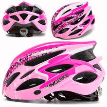 KINGBIKE 2019 nowy MTB Road kask rowerowy kobiety mężczyźni integralnie formowane Ultralight kask kaski rowerowe światła capacete ciclismo tanie tanio (Dorośli) kobiety J-629 About 237g 20 Formowane integralnie kask cycling helmet bicycle helmet helmet for cycling Unisex Ultralight Cycling Helmet