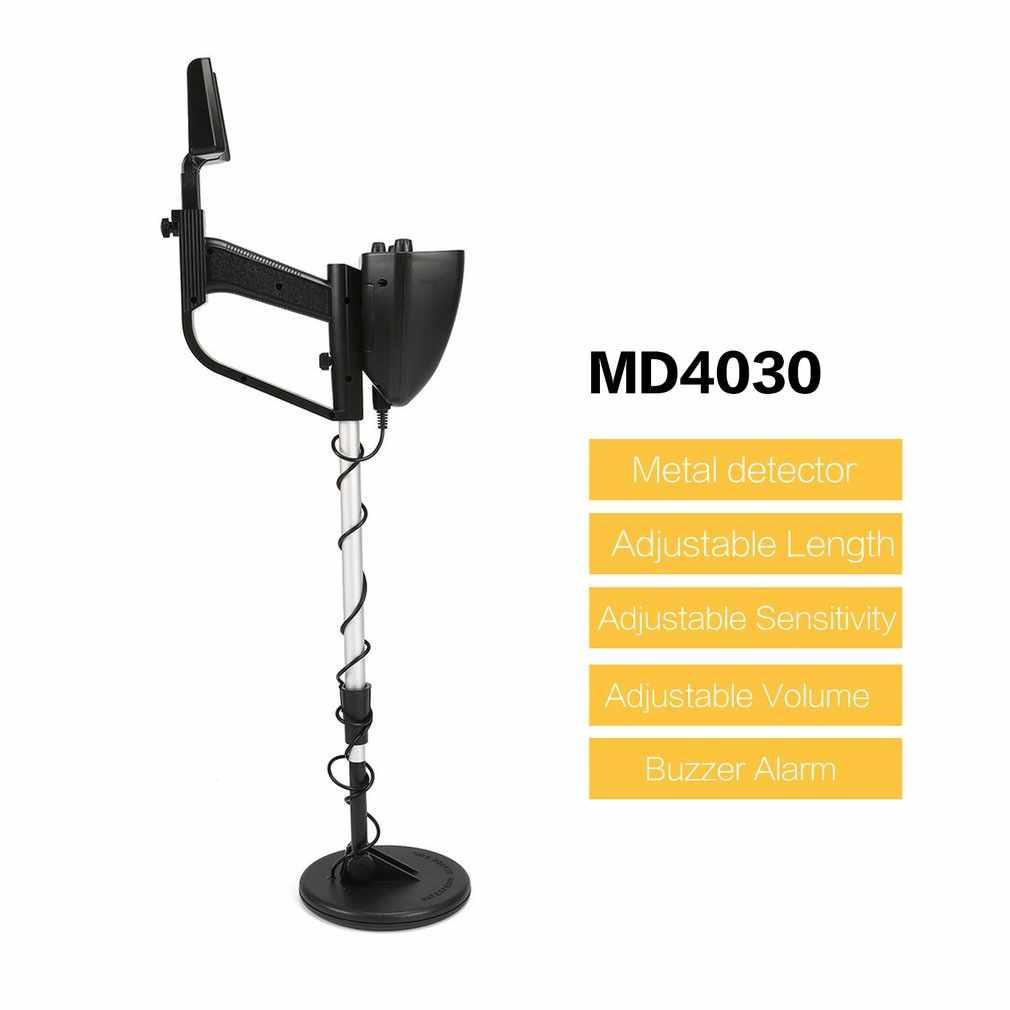 MD4030 Профессиональный портативный подземный металлоискатель ручной Длинный регулируемый Охотник за сокровищами Золотой искатель