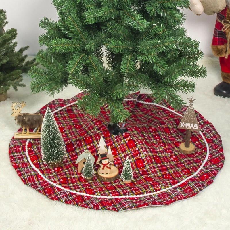 Christmas Tree Supply 2020 Christmas Tree Skirt Xmas Floor Mat Cover Snowflake Design Carpet