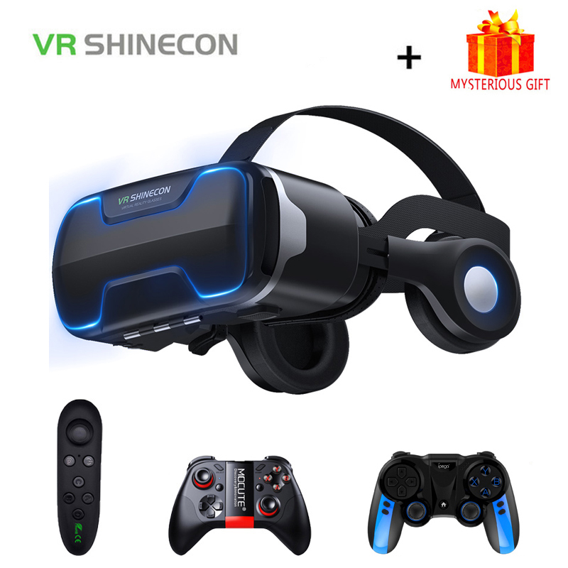 VR Shinecon Viar Helmet 3D Glasses Virtual Reality Headset For iPhone Android Smartphone Smart Phone Goggles Casque Binoculars