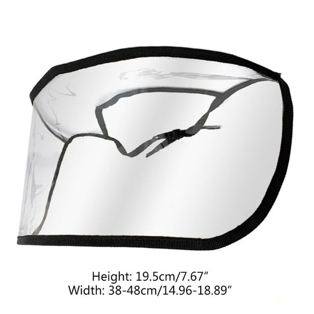 Removable Anti-saliva Dust-proof Full Face Protective Cover Mask Visor Shield 649C 5