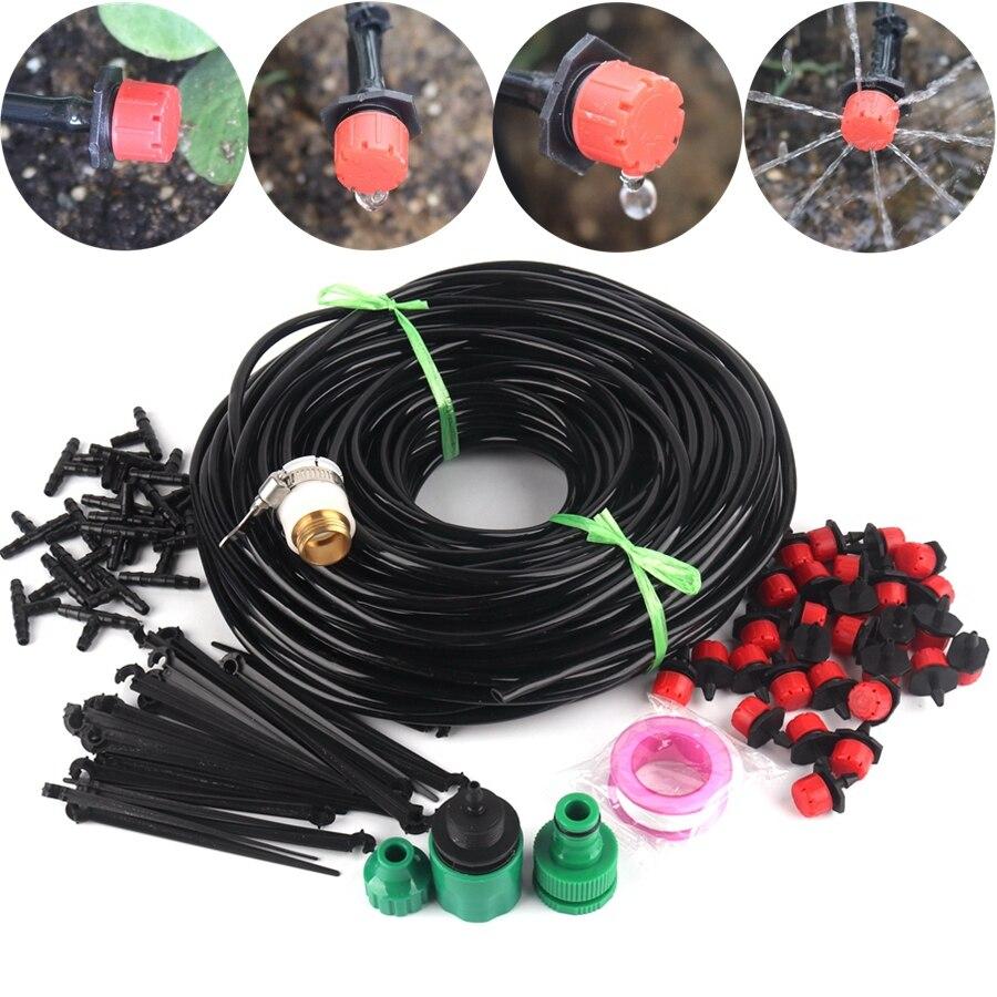 10m Hose Drip Garden Irrigation System Micro Irrigation Kits Bonsai Flower Water Drip Kit Gardening Watering System Kit