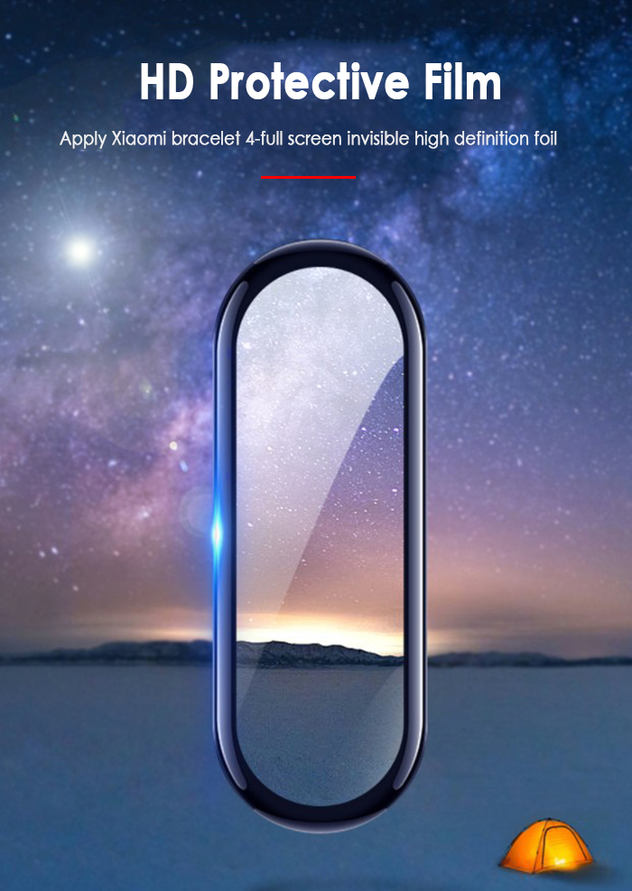 High-strength Protective Film Explosion-proof Scratch-resistant Screen Protector Non-tempered Glass For Mi Band 4 Strap