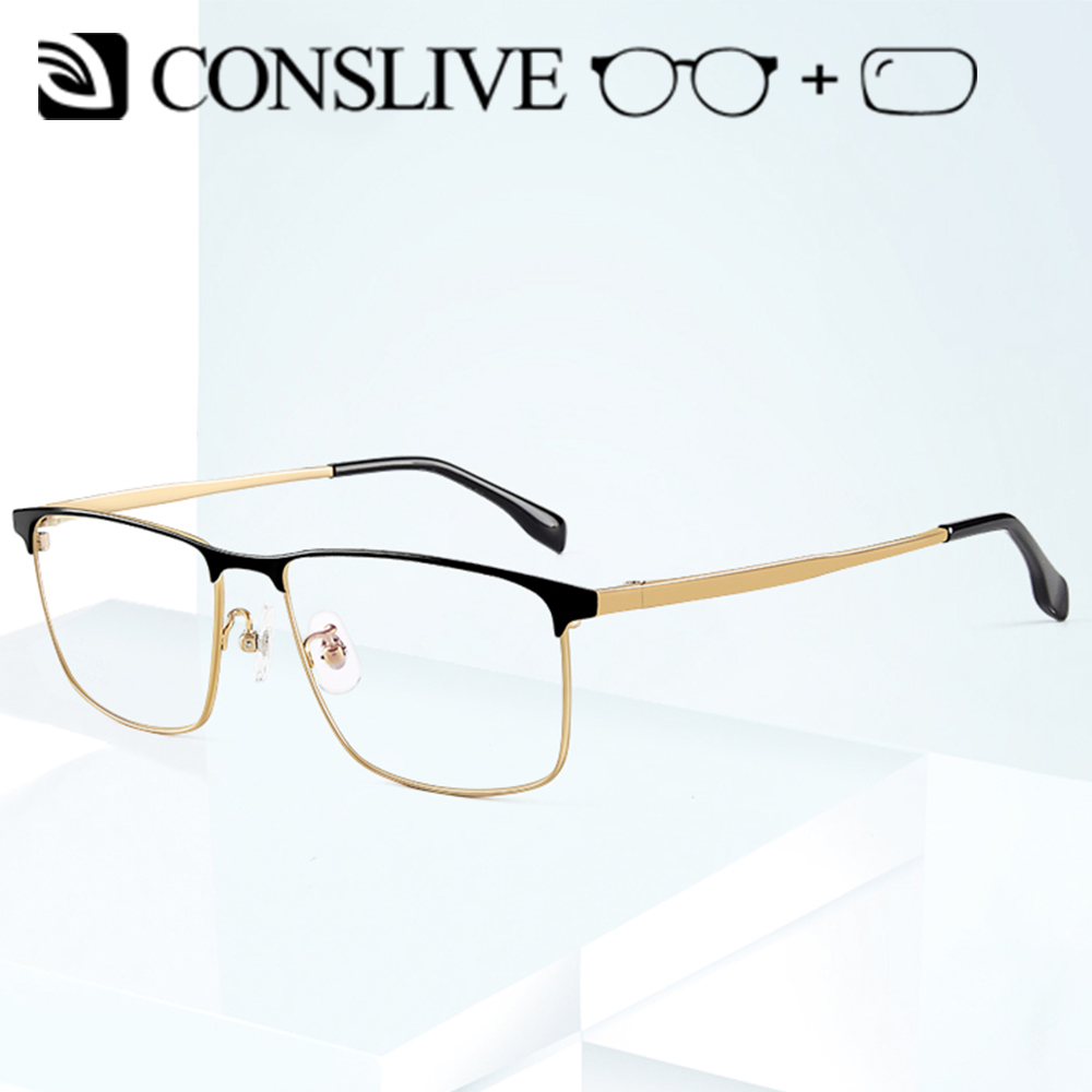 2019 nuevas gafas de prescripción para hombres gafas dióptricas de titanio gafas ópticas multifocales Vintage monturas lentes transparentes J85740
