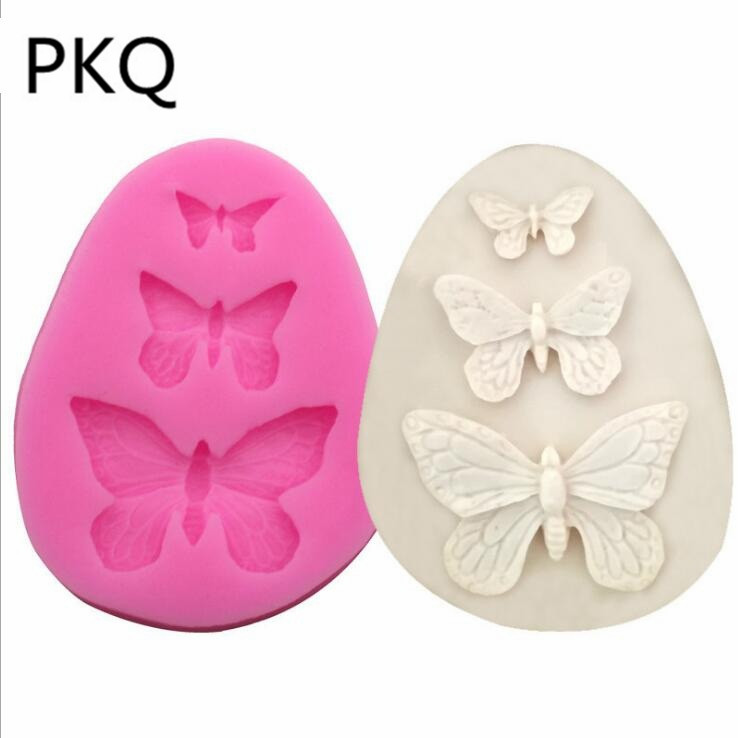 3D Butterfly Shape Silicone Chocolate Fondant Mold Cake Soap Mould Decoration 9L