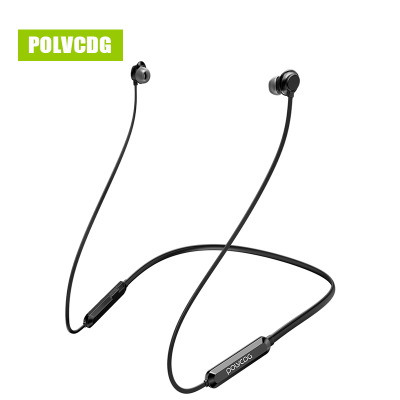 POLVCDG P03 Sports Music Bluetooth Earphones Wireless Sweatproof Headset Stereo Earbuds V5.0 with Microphone