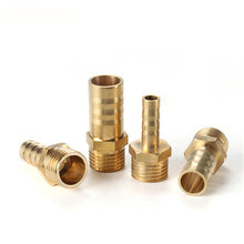 4mm 6mm 8mm 10mm OD Hose Barb x M8 M10 M12 Metric Male Thread Brass Barbed Pipe Fitting Connector Coupler Adapter