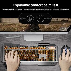 Беспроводная клавиатура и мышь набор перезаряжаемая клавиатура и игровая мышь плавающий ключ Механическая Подсветка клавиатура и мышь ком...