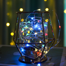 YINUO LIGHT 5PCS/Lot 1M 2M Copper Wire LED String lights Battery Waterproof Fairy Lights For Christmas Tree Wedding Decoration