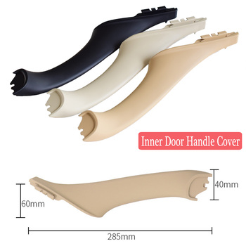 Beige Black Car left right inside Interior Handles Inner Door Panel Handle Pull Trim Cover For BMW 5 series F10 F11 image