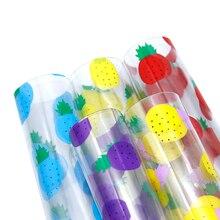 20*34 см ананасовые узоры прозрачная синтетическая кожа, материалы для ручных поделок для ручной работы, 1Yc6655