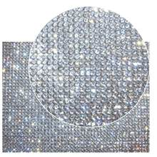 1.9 Inch * 15.7 Inch Zelfklevende Bling Crystal Rhinestone Diy Decoratie Sticker ,10 Rijen Crystal Glas Tape Lint(China)