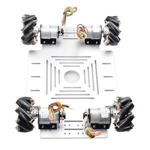 Image 3 - 20KG Big Load 4WD All Metal Mecanum Wheel Robot Car Chassis Kit Platform with DC 12V Encoder Motor for Arduino DIY Project