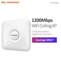 COMFAST CF E375AC 1300Mbps 5.8Ghz high power dual band wireless ceiling AP with gigabit RJ45 port wi fi router signal amplifier