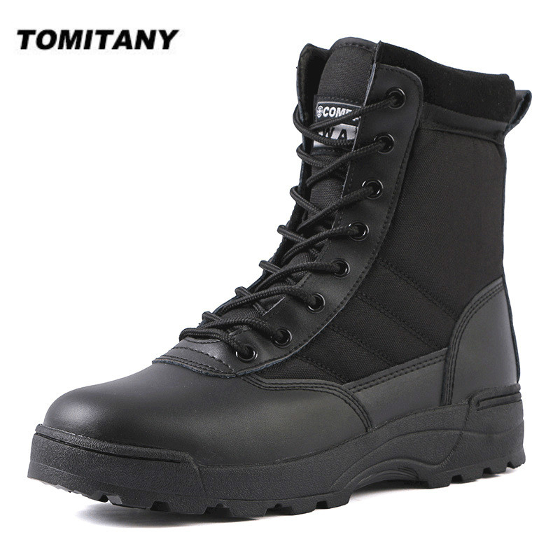 Tactical Military Boots Men Boots Special Force Desert Combat Army Boots Outdoor Hiking Boots Ankle Shoes Men Work Safty Shoes
