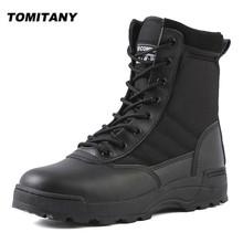Taktyczne buty wojskowe męskie buty specjalne siły pustynne wojskowe buty bojowe trekkingowe buty turystyczne buty do kostki mężczyźni pracują Safty buty tanie tanio TOMITANY Pracy i bezpieczeństwa CN (pochodzenie) Skóra Split ANKLE Stałe Cotton Fabric Okrągły nosek RUBBER Wiosna jesień