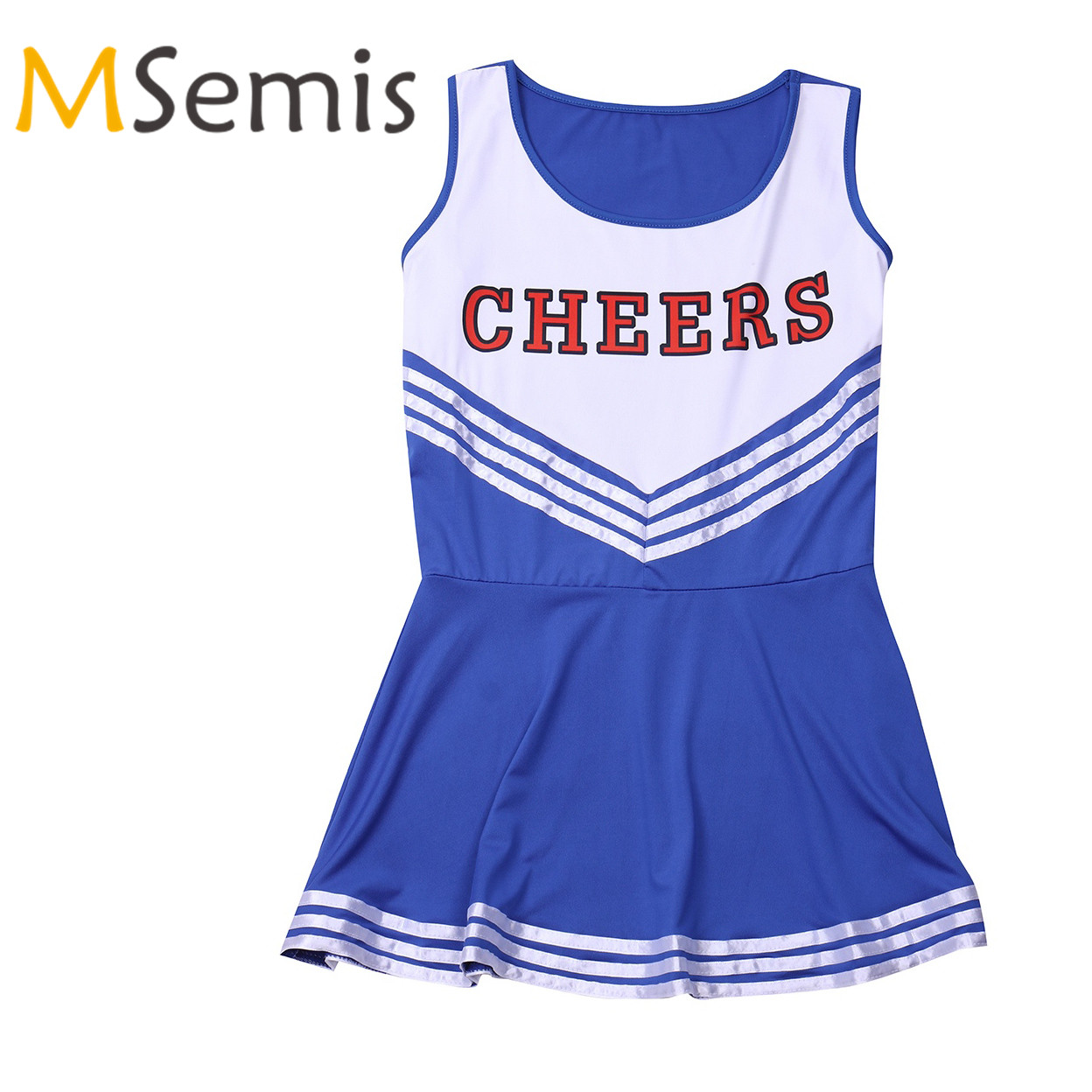 Women's Cheerleader Costume Uniform School Girls Musical Fancy Mini Dress Team Sports Cheerleadeing Uniform With CHEERS Letter