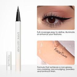FOCALLURE Black Liquid Eyeliner Pencil Waterproof 24 hours Non Smudge Long Lasting Eye Makeup smooth Superfine Eye Liner Pen