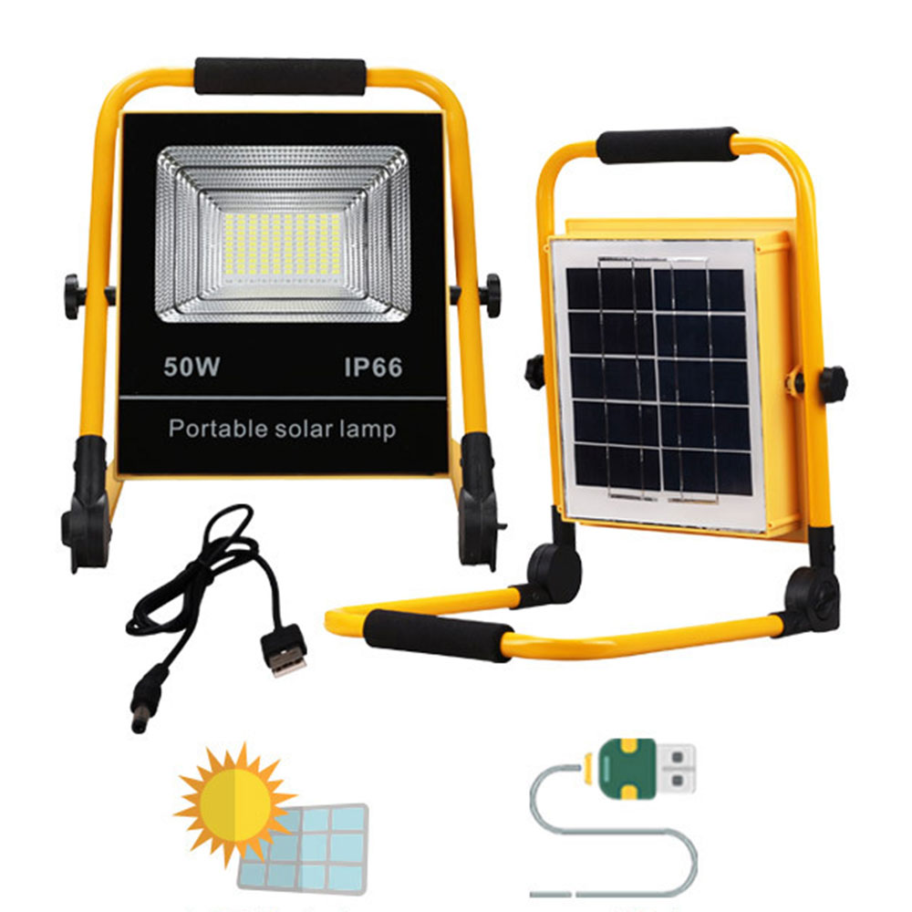 NEW 50W Multifunction Portable Spotlight Work Light Rechargeable Flashlight Solar Energy Light For Outdoor Hunting Camping|Flashlights & Torches| |  - title=