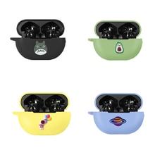 만화 귀여운 부드러운 실리콘 케이스 화웨이 Freebuds 4i 헤드폰 충전 케이스 Shockproof 보호 커버 헤드셋 케이스