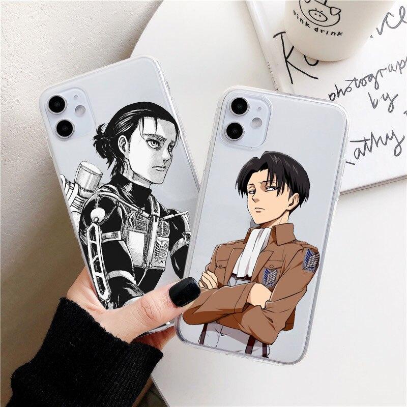Anime Japanese attack on Titan Phone Case For iphone 12 mini 11 pro XS MAX 8 7 6 6S Plus X SE2020 XR Soft TPU Fundas Coque case
