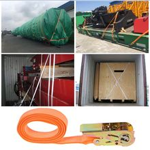 Porable Heavy Duty Tie Down Cargo Strap Luggage Lashing Strong Ratchet Strap Belt With Metal Buckle