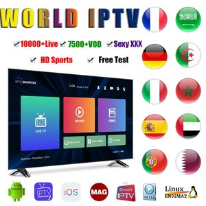 Smart box 1 Year Iptv m3u 24 hour free test France Full world europe IPTV adult For Iptv Smarters French Arabic TV BOX Free Test