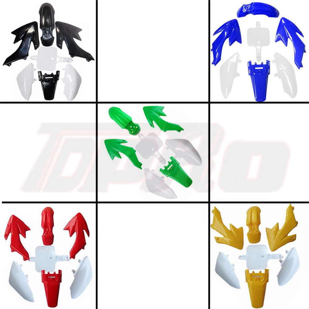 For Honda CRF50 XR50 Motorcycle Fairing Kits Plastic Full Set Cover Part Moto Enduro 50cc-160cc SDG SSR Pit Dirt Bike Fender Kit
