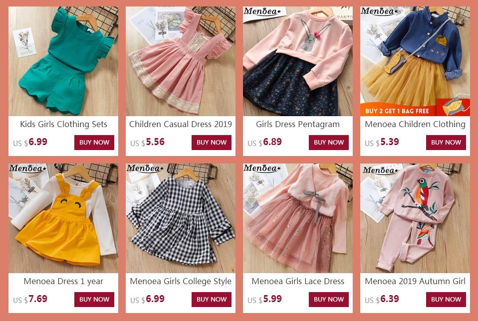 Menoea Children Clothing Suits 19 Autumn Fashion Style Girl Cowboy Long-Sleeve Mesh Dress Design For 3-8Y Kids Girls Sets 3