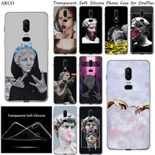 Phone-Case For Oppo Oneplus 8 7 6-5 3 T-Mona Lisa David Medusa Statue Art Silicone A9