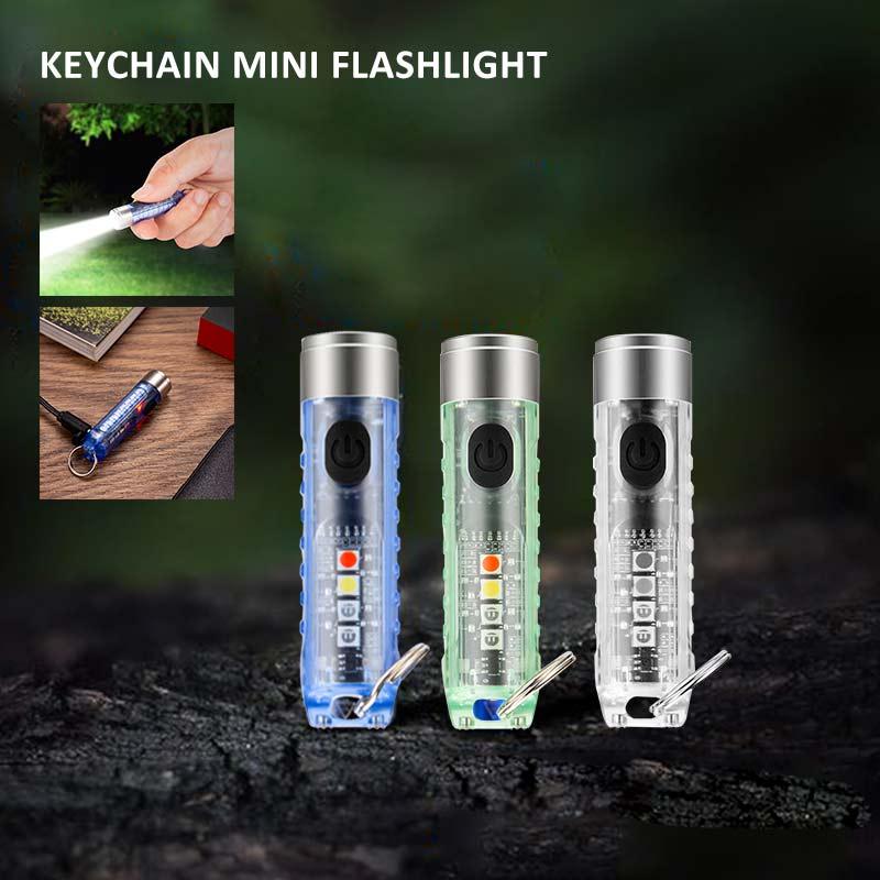 Фонарик для ключей MINI ONE SE Max. 500 люмен флуоресцентный отбеливающий агент Обнаружение прочный пластиковый брелок