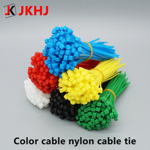 3D Printer Parts Color cable nylon tie 3mm*100mm/200mm Self-locking Nylon Cable Ties Fasten decorative strip 100pcs
