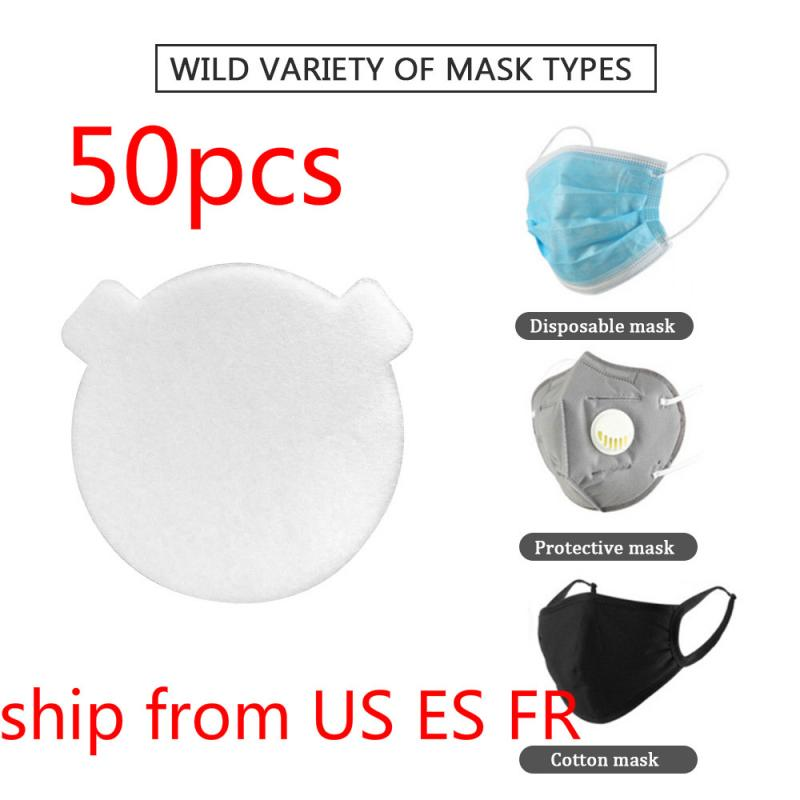 50/20/10PCS Skin Friendly Mask Gasket Disposable Mask Filter Pad Three-layer Protective Mask Inner Gasket Toiletry Kits