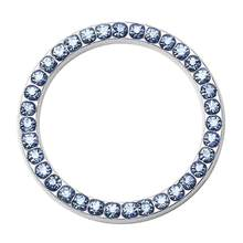 "40mm/1.57"" Auto Decorative Diamond Rhinestone Ring Circle Trim Car Bling Decorative Accessories Automobiles Start Switch Button(China)"