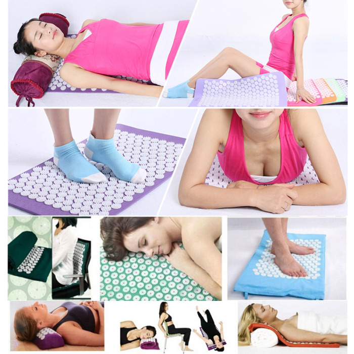 SEC88 Acupressure Massage Mat with Pillow set for Stress Pain and Tension Relief 31