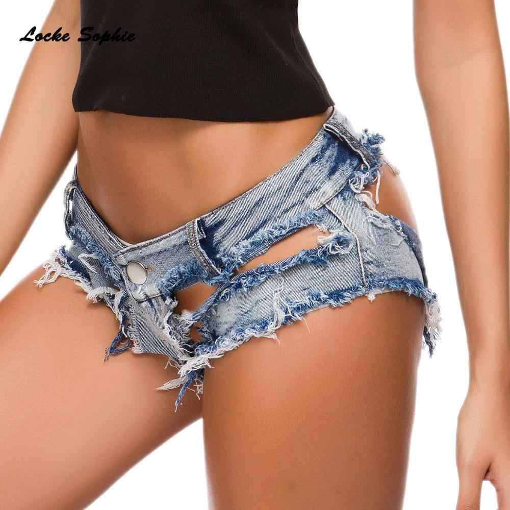 נמוך מותניים סקסי נשים ג 'ינס מכנסיים קצרים 2020 קיץ ג' ינס כותנה שחבור גבירותיי שבור חור סקיני מועדון לילה סופר סקסי קצר ג 'ינס