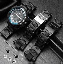 Staal Plastic Wathband Voor Casio GW A1100 GW 4000 GA 1000 G 1400 Horloge Band Horloge Armband Mens Sport Horloges Band Gereedschap