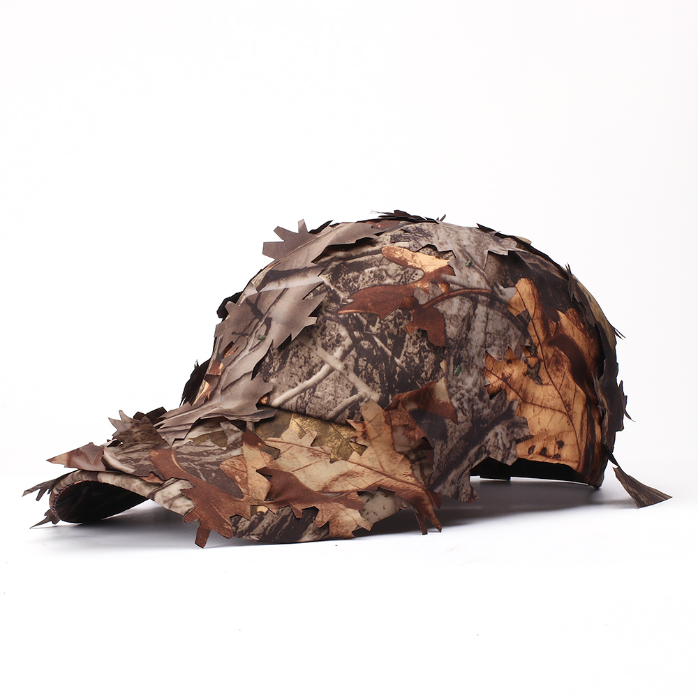 Carefully Crafted Realistic Camouflage Cap Bionic Leaf Wild Jungle Woodland Camo Sniper Archery Hat Optional Color