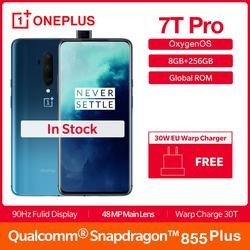 Перейти на Алиэкспресс и купить 2019 global rom oneplus 7t pro 8gb 256gb smartphone snapdragon 855 plus octa core 6.67дюйм. fulid 90hz display nfc ufs 3.0 4085mah