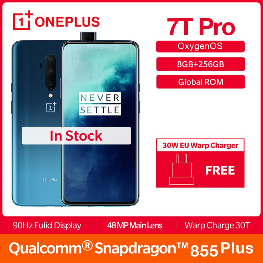 2019 globale ROM OnePlus 7T Pro 8GB 256GB Smartphone Snapdragon 855 Plus Octa Core 6.67