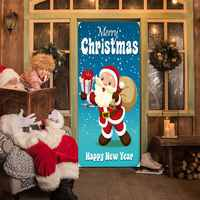 Christmas Wall Stickers Mural Bedroom Decor Poster Door Sticker MT169