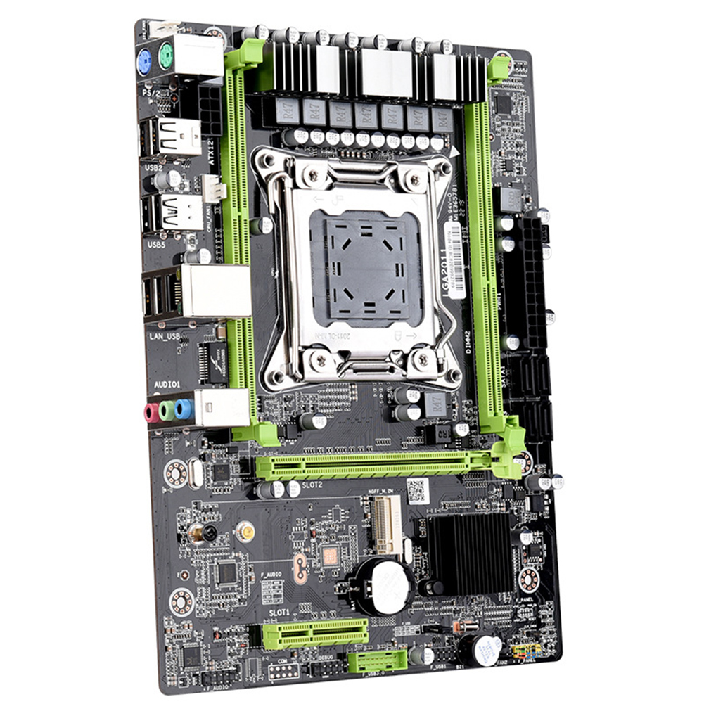 X79 LGA2011 E5 DDR3 <font><b>2680</b></font> <font><b>V2</b></font> Motherboard Accessories Professional Computer PCI <font><b>E</b></font> Replacement 64G USB Processor Stable SATA3 image