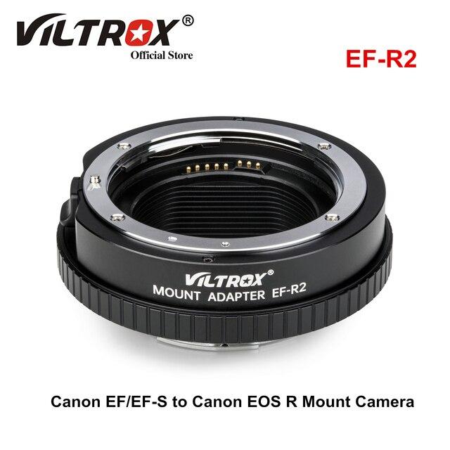 Viltrox EF R2 Lấy Nét Tự Động Chuyển Đổi Ống Kính Với Điều Khiển Chức Năng Nhẫn Cho Ống Kính Canon EF/EF S Ống Kính Canon EOS R gắn Camera RP R5 R6
