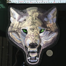 Nouveau Punk gros loup patchs pour vêtements Animal autocollant sur vêtements bricolage grand motard Patch Cool manteau Appliques vêtement décor Parches(China)