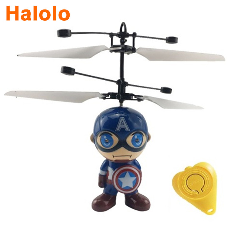 Halolo Mini Drone flying induction Quadcopter RC Drone Mini Infrared Sensor Helicopter Aircraft RC Toy Drone best gift toy 2