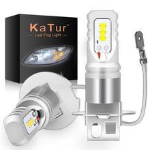Katur 2pcs H3 סופר Led נורות 80w אוטומטי אורות רכב led נורות רכב אור מקור DC 12V 24V 6500K לבן ערפל מנורת רכב פנס