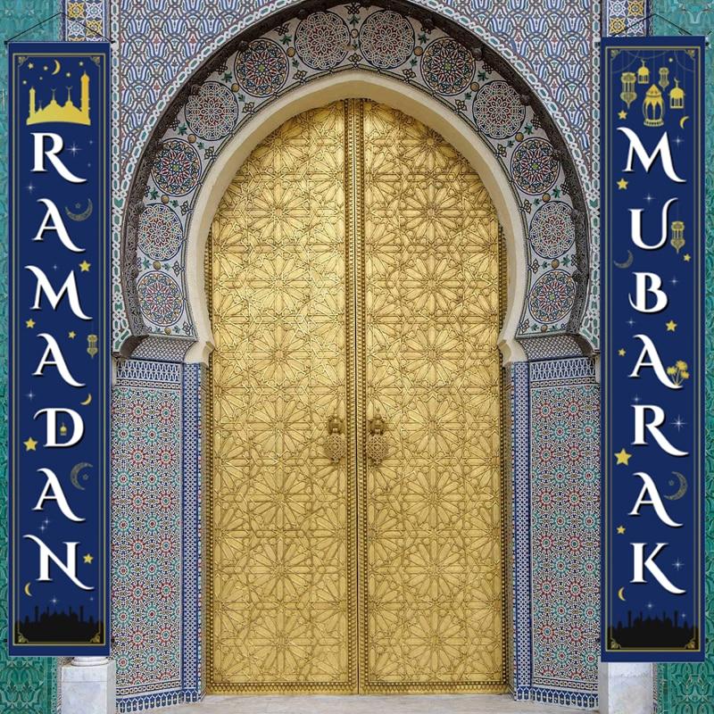 Рамазан Мубарак двери занавес баннер для ИД Мубарак домашний декор подвесной флаг Рамадан мусульман, Hajj Mubarak подарки